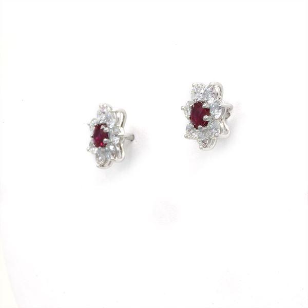 Picture of Ruby Diamond Earrings