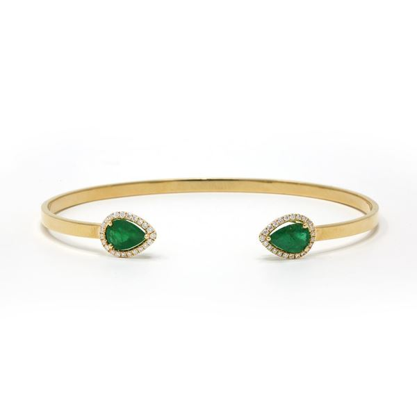صورة Diamond and Real Gemstones Bangles
