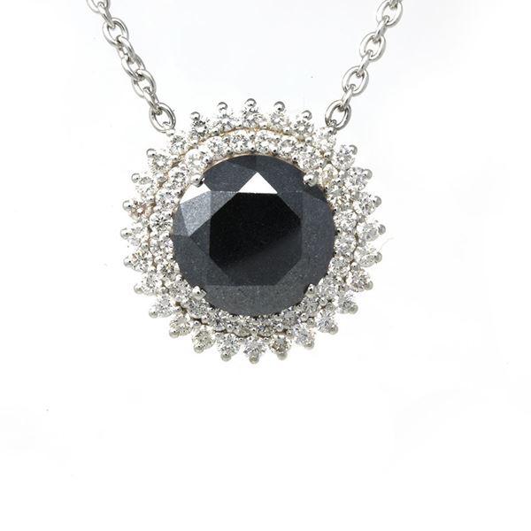 صورة Huge Black Diamond Pendant