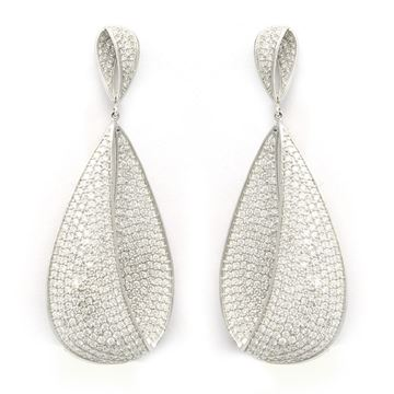 Picture of Unique Fancy Drop Pear Diamond Earrings