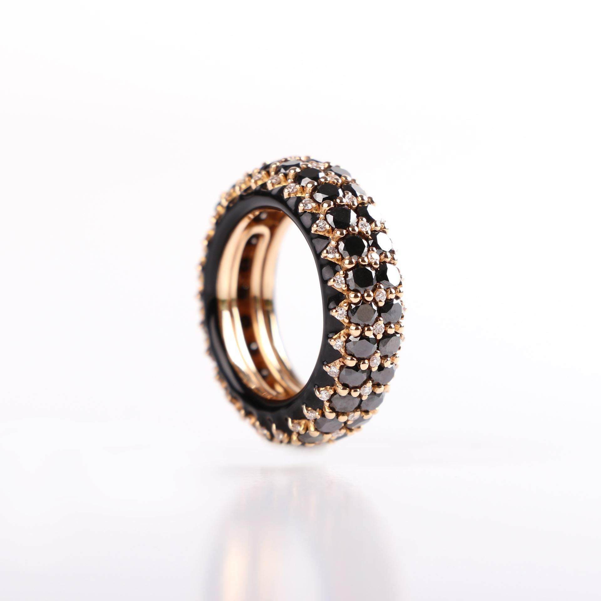 ring black cut of no halo rose diamond hexagon copy jewellery point products a gold studio engagement