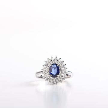Picture of Diamond & Genuine Sapphire Ring