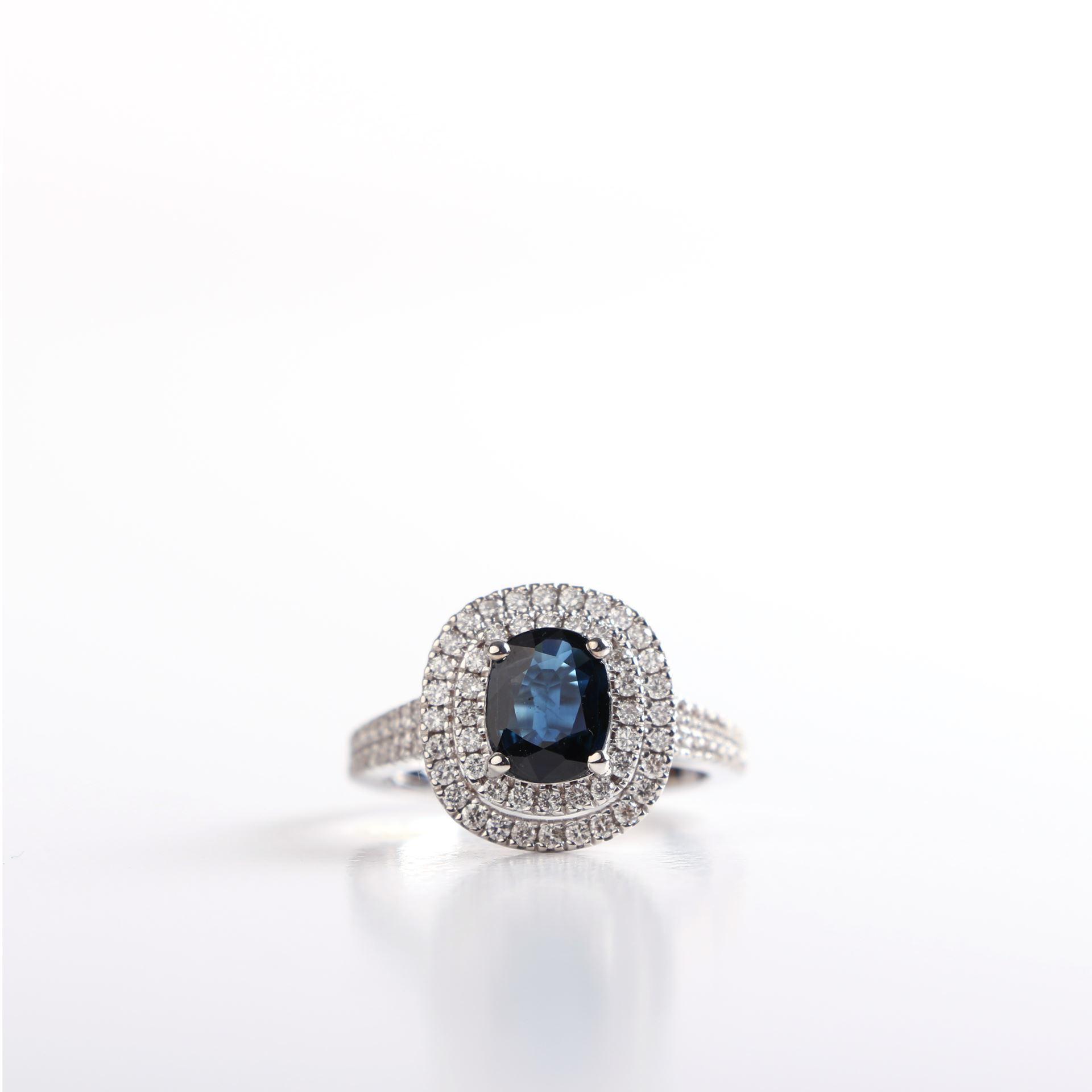 diamond genuine sapphire ring joud soutou jewelry. Black Bedroom Furniture Sets. Home Design Ideas