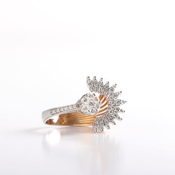 صورة Sun Rays Diamond Ring
