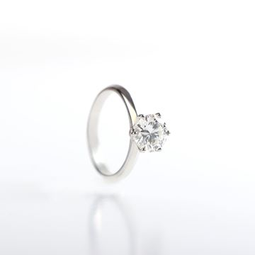 White Gold Diamond Engagement Ring Front View