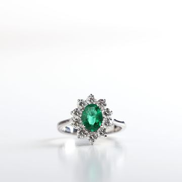 Picture of Shining Emerald Oval Ring