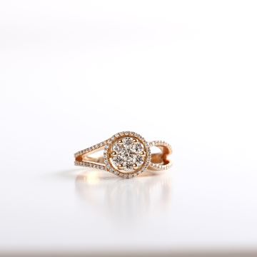 صورة The Rose-Gold Illusion Ring