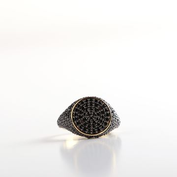صورة Black Diamond Pinky Ring