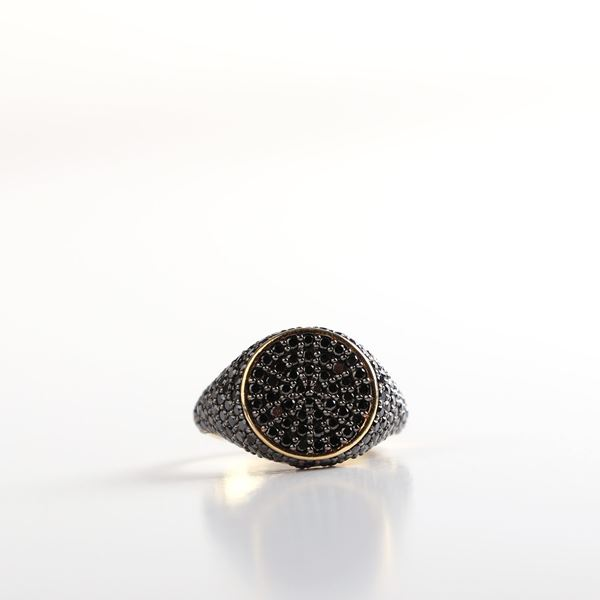 Picture of Black Diamond Pinky Ring