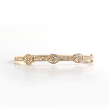 Picture of Yellow Gold Diamond Bangle