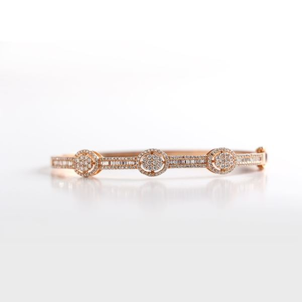 Picture of Pink Gold Diamond Bangle