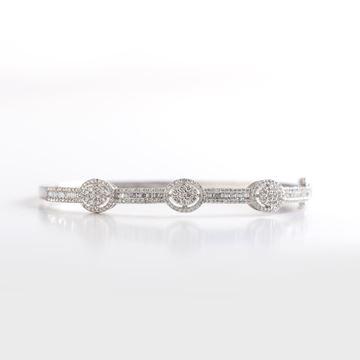 Picture of White Gold Diamond Bangle
