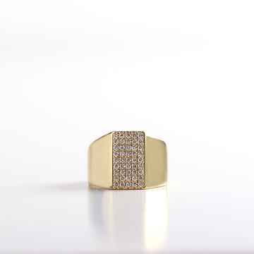 صورة Gold Pinky Diamond Ring