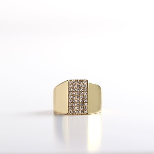 Picture of Gold Pinky Diamond Ring