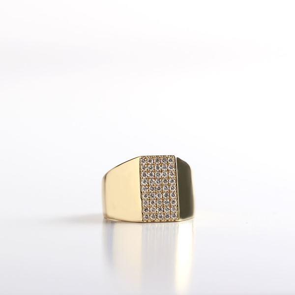 صورة Gold Pinky Diamond Ring