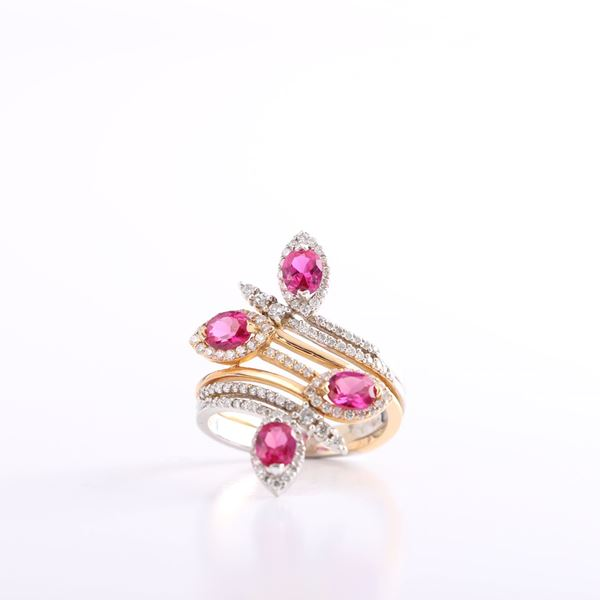 Picture of Ruby And Diamond Twist Ring