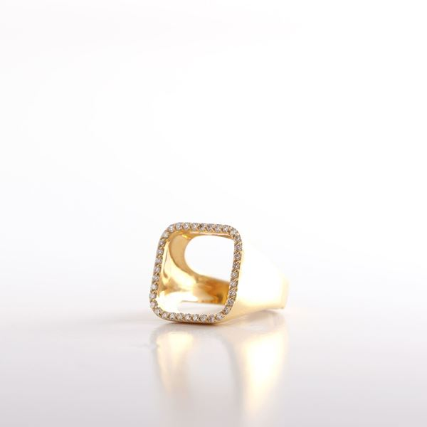 صورة Pinky Square Diamond Ring