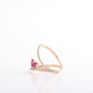 Picture of Pink Gold V Ring