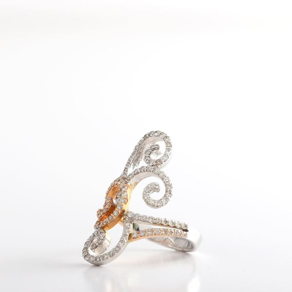 Picture of Two Colors diamond Ring