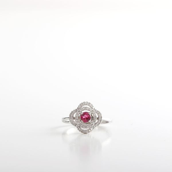Picture of The Flower Ruby Ring