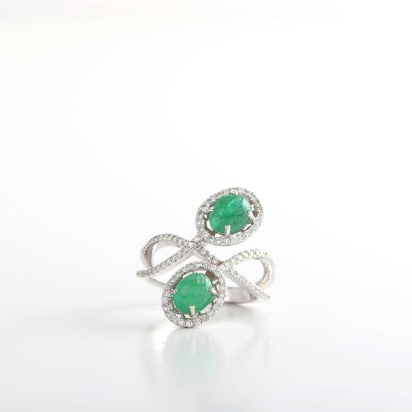 صورة Cabochon Emerald Ring