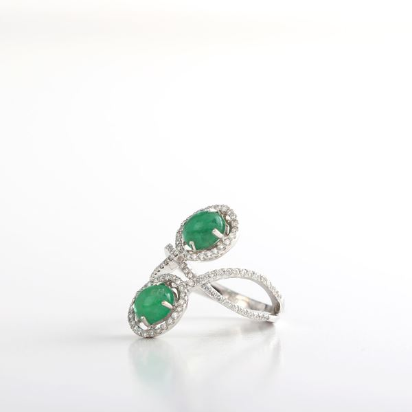 Picture of Cabochon Emerald Ring
