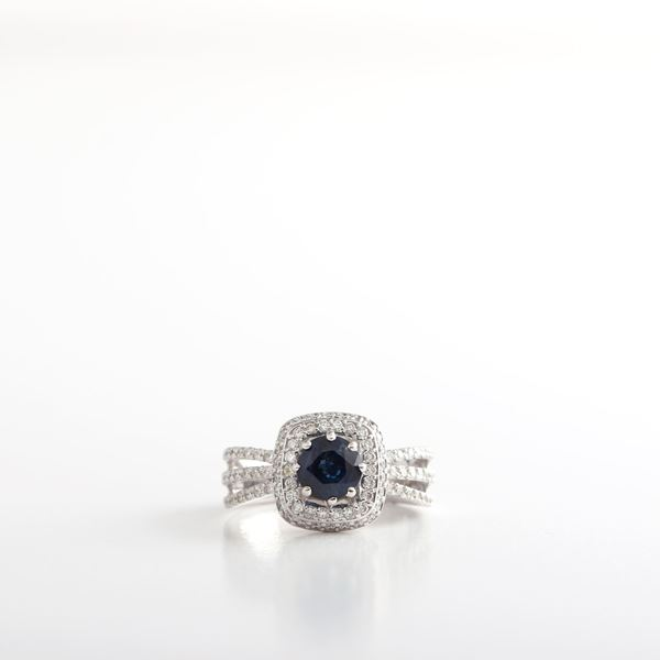 Picture of Sapphire & Diamond Ring