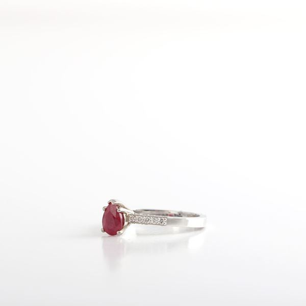 Picture of Pear Ruby Ring