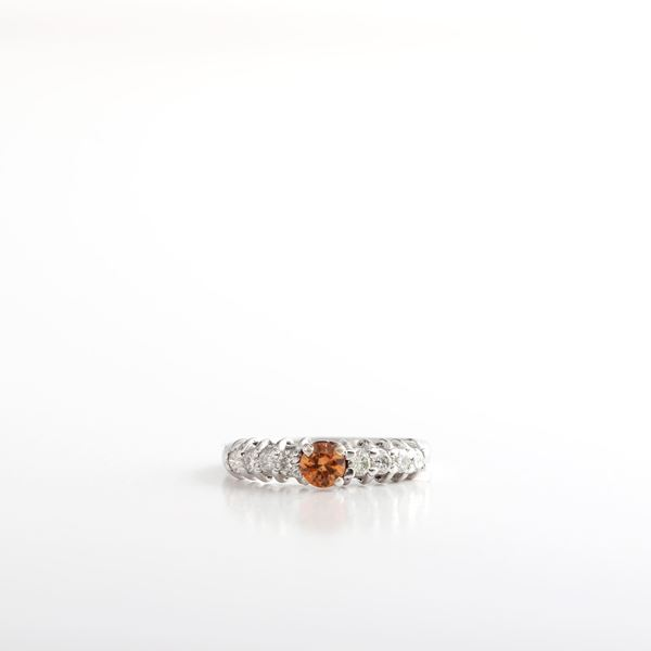 Picture of Topaz & Diamond Ring