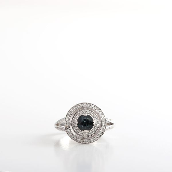 Picture of Elegant Sapphire & Diamond Ring