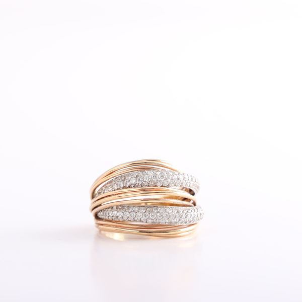 Picture of Pink Gold & Diamond Ring