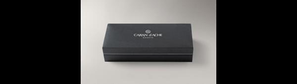 Silver-Plated, Rhodium-Coated Varius Ceramic Black Roller Pen In Box Closed