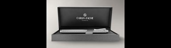 Palladium-Coated Ecridor Chevron Roller Pen In Box Open