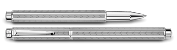 Palladium-Coated Ecridor Chevron Roller Pen Double Pen View