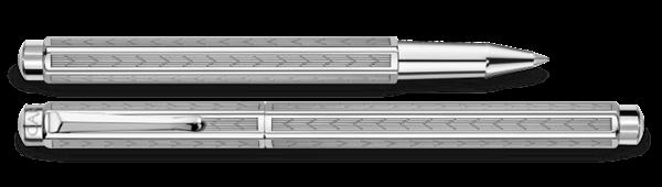 Palladium-Coated Ecridor Chevron Roller Pen Double Pen View