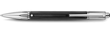 Silver-Plated, Rhodium-Coated Varius Rubracer Ballpoint Pen Horizontal View