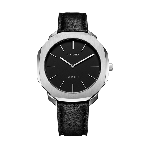 Black&Silver Super Slim 41 mm Front View
