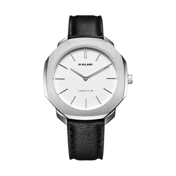 White&Silver Super Slim 41mm Front View