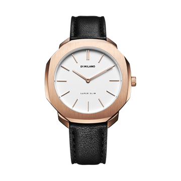 White&Rose Gold Super Slim 41mm Front View