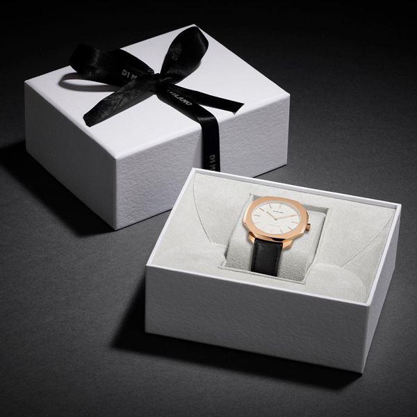 White&Rose Gold Super Slim 41 mm In Box