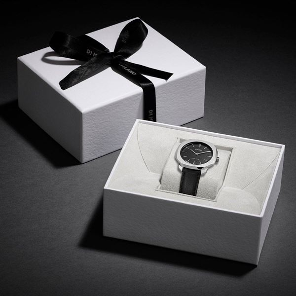 Black&Silver Super Slim 36 mm In Box