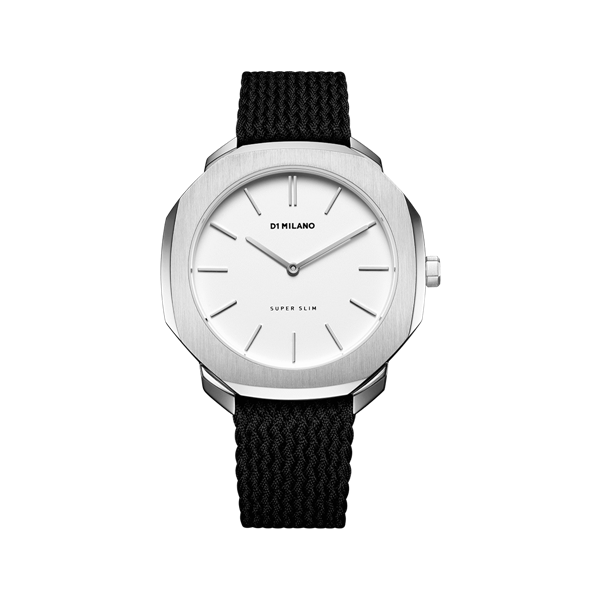 White&Silver Case Super Slim 36mm Front View