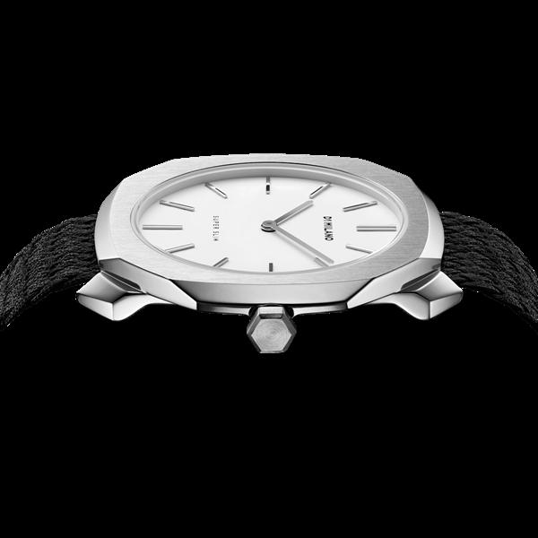 White&Silver Case Super Slim 36mm Top View