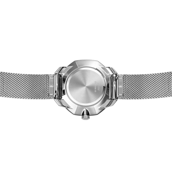 Silver Super Slim 36 mm Back View