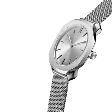 Silver Super Slim 36 mm Front View