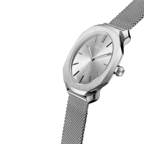 Silver Super Slim 36 mm Side View