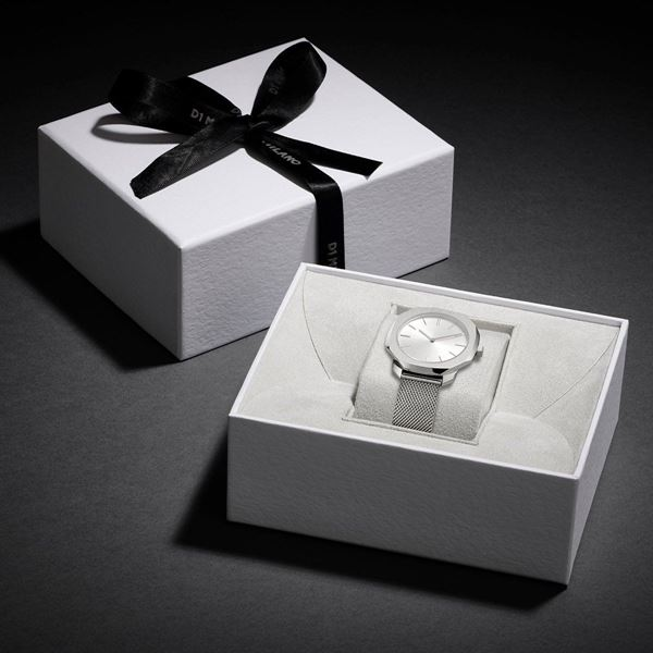 Silver Super Slim 36 mm In Box