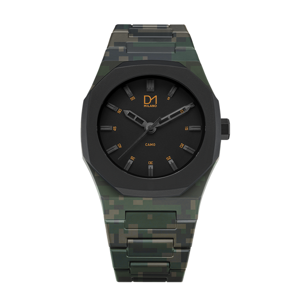 Green Camo Polycarbon 40.5 mm Front View
