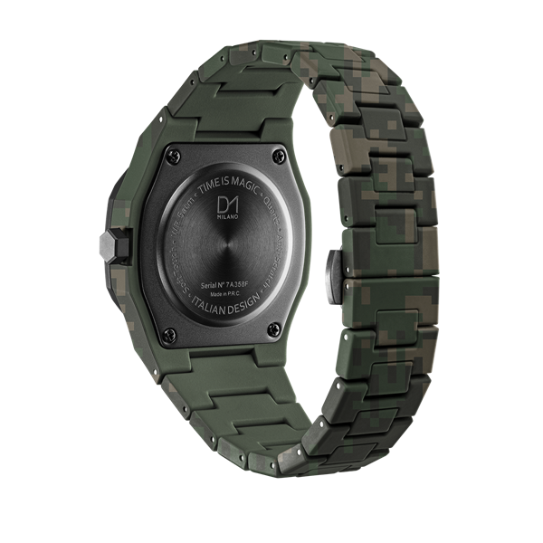 Green Camo Polycarbon 40.5 mm Back View