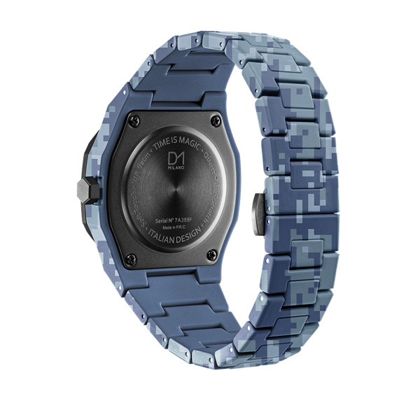 Blue Camo Polycarbon 40.5 mm Back View
